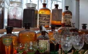 Antike Apothekerflaschen