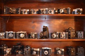 Antike Fotokameras
